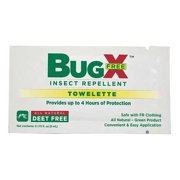 BUGX 18-830G Insect Replnt,No DEET,Lotion Wipe,PK300