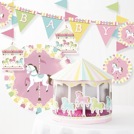 Carousel Baby Shower Decorations Kit