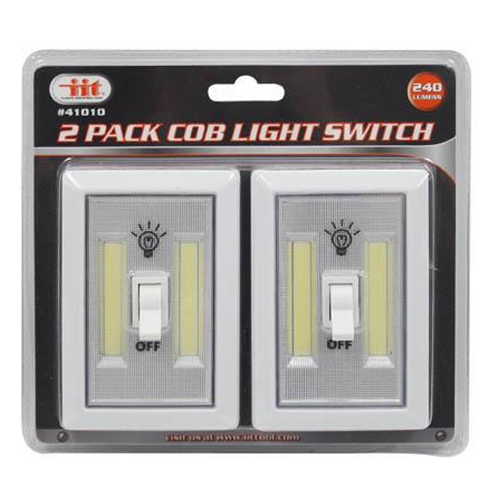 2 PCS COB LED Night Light Wall Switch Wireless Battery Operated Closet Cordless