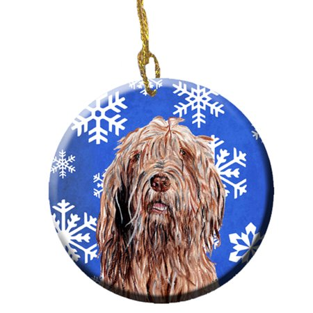 Otterhound Winter Snowflakes Ceramic Ornament SC9781CO1