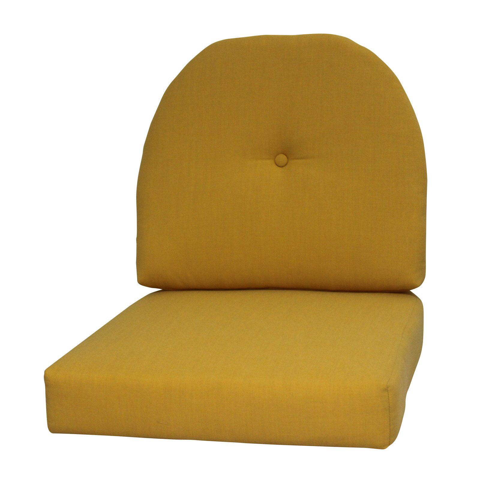 FiberBuilt Paradise Cushions Sunbrella Wicker Chair Seat And Back Cushion    Walmart.com
