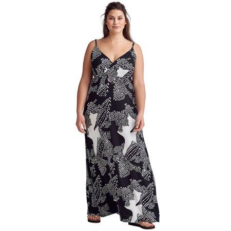 Ellos Plus Size Knit Surplice Maxi Dress