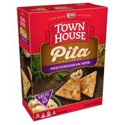 Town House Pita Crackers, Mediterranean Herb, 9.5 Oz