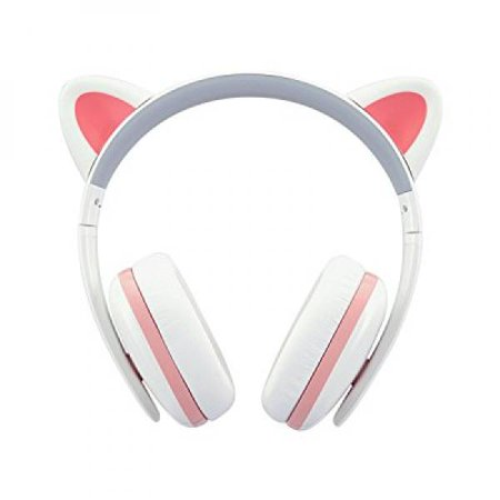 Censi Wired Cat Ear Headphones - Over Ear Wired Noise Canceling ...