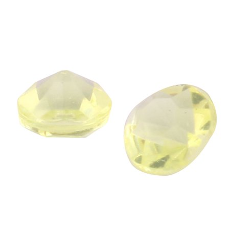 Plastic Crystal Inlay Wedding Party Decor Yellow 4.5mm Diameter 10000 Pcs - image 2 of 3