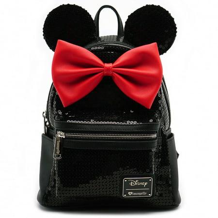 Loungefly Minnie Black Sequin Mini Backpack ()