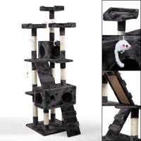 Lowestbest 67-in Cat Tree & Condo Scratching Post Tower, Gray