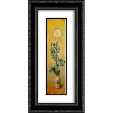 claude monet 2x matted 14x24 black ornate framed art print white
