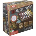 Ideal Premium Wood Cabinet 15 Game Set