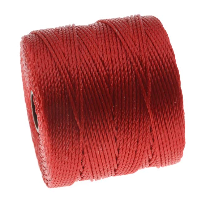 BeadSmith Super-Lon (S-Lon) Cord - Size 18 Twisted Nylon - Shanghai Red / 77 Yard Spool