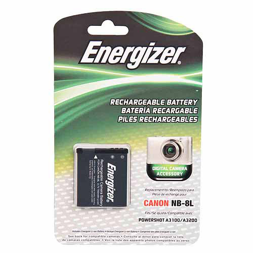 Energizer Digital Replacement Battery NB-8L for Canon Pow...
