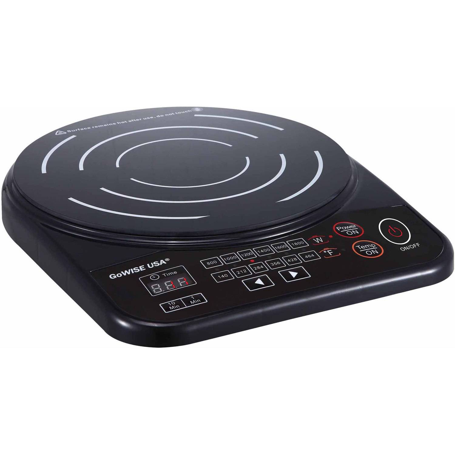 Ming's Mark GW22616 Portable Induction Cooktop with Stainless Steel Pan