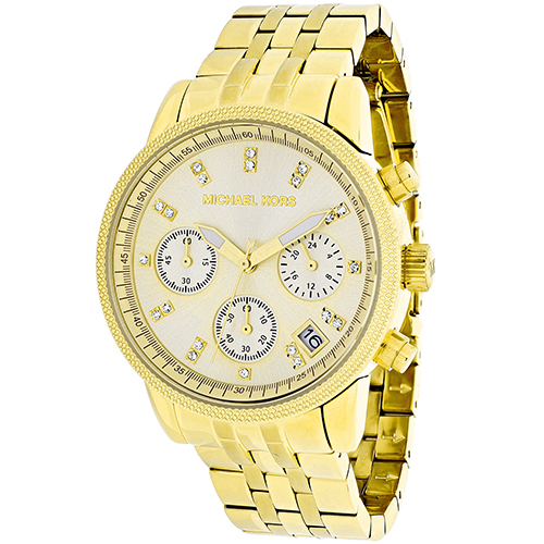 Michael Kors Women's Ritz MK5676 Gold Stainless-Steel Japanese Quartz Fashion Watch
