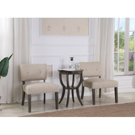 Best Master Furniture Johannesburg 3-Piece Living Room Accent Arm Chair Set, Weathered