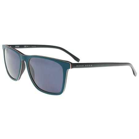 BOSS 0760/S 0QHY- NL Petrol Blue Rectangle (Petrol Rectangular Sunglasses)