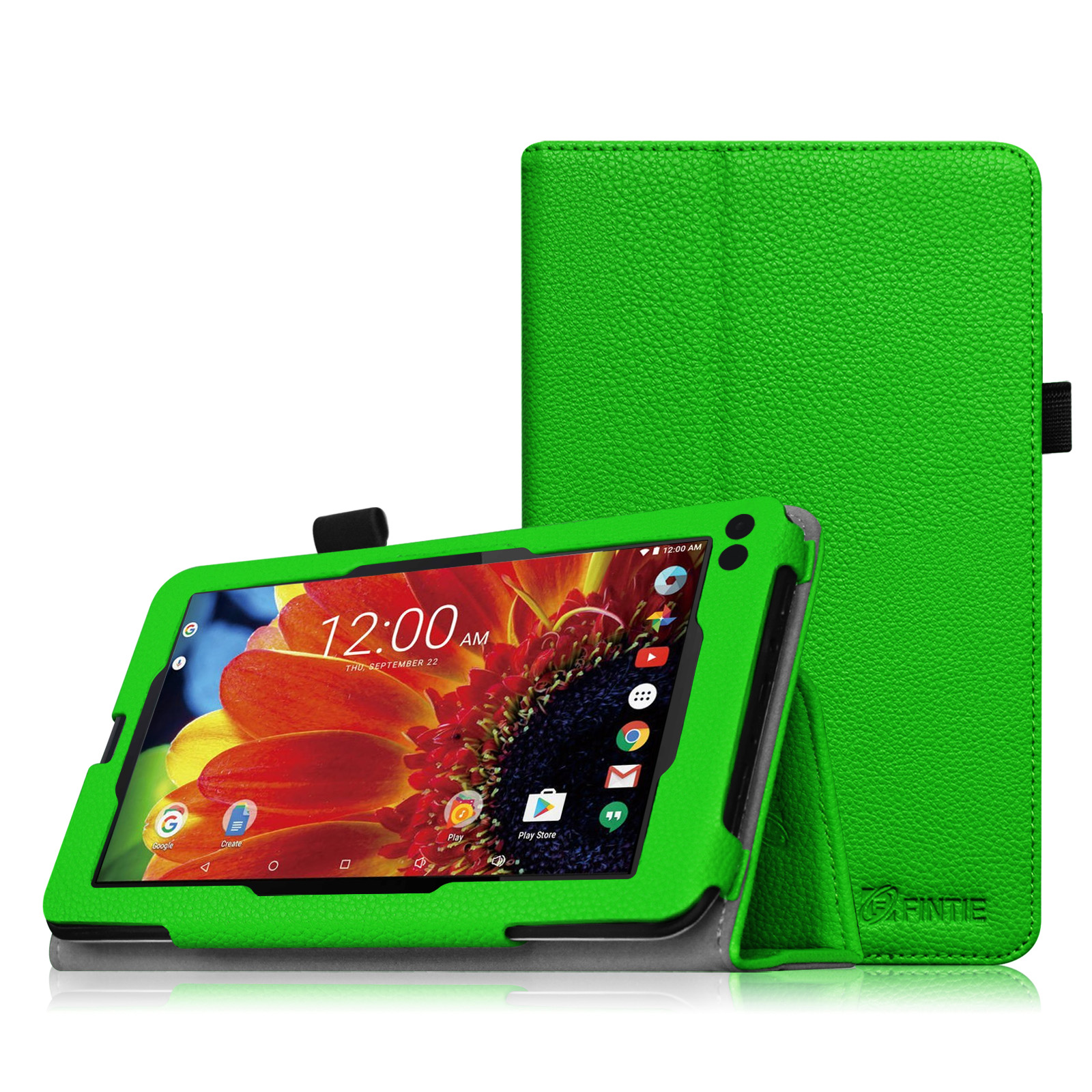 "Fintie PU Leather Case Folio Cover for RCA 7"" Voyager III / Voyager II / Voyager Pro Tablet, Green"