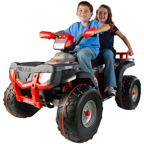 Polaris Sportsman 850 ATV 24-Volt Battery-Powered Ride-On, Silver by Peg Perego USA Inc