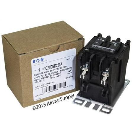 30 Amp / 2 Pole / 110-120V Coil , Eaton Cutler Hammer C25DND230A Contactor Cutler Hammer 40 Amp