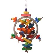Super Bird Creations SB646 Hunky Dory Bird Toy, Multi-Color, Large