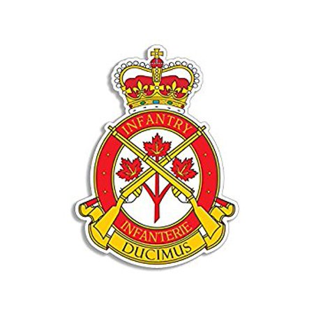 Canadian Infantry Branch Badge Shaped Sticker Decal (decal logo canada ducimus army) Size: 3 x 5 inch