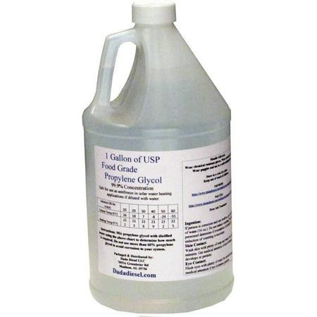 1 Liter Bottle / 1 Quart Propylene Glycol Food Grade USP 99 5+% Pure  Concentration with Child Safety Cap