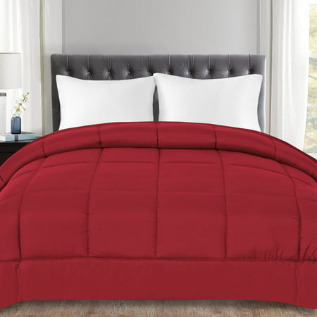 Down Alternative Polyester Box Stitch Microfiber Comforter - Full