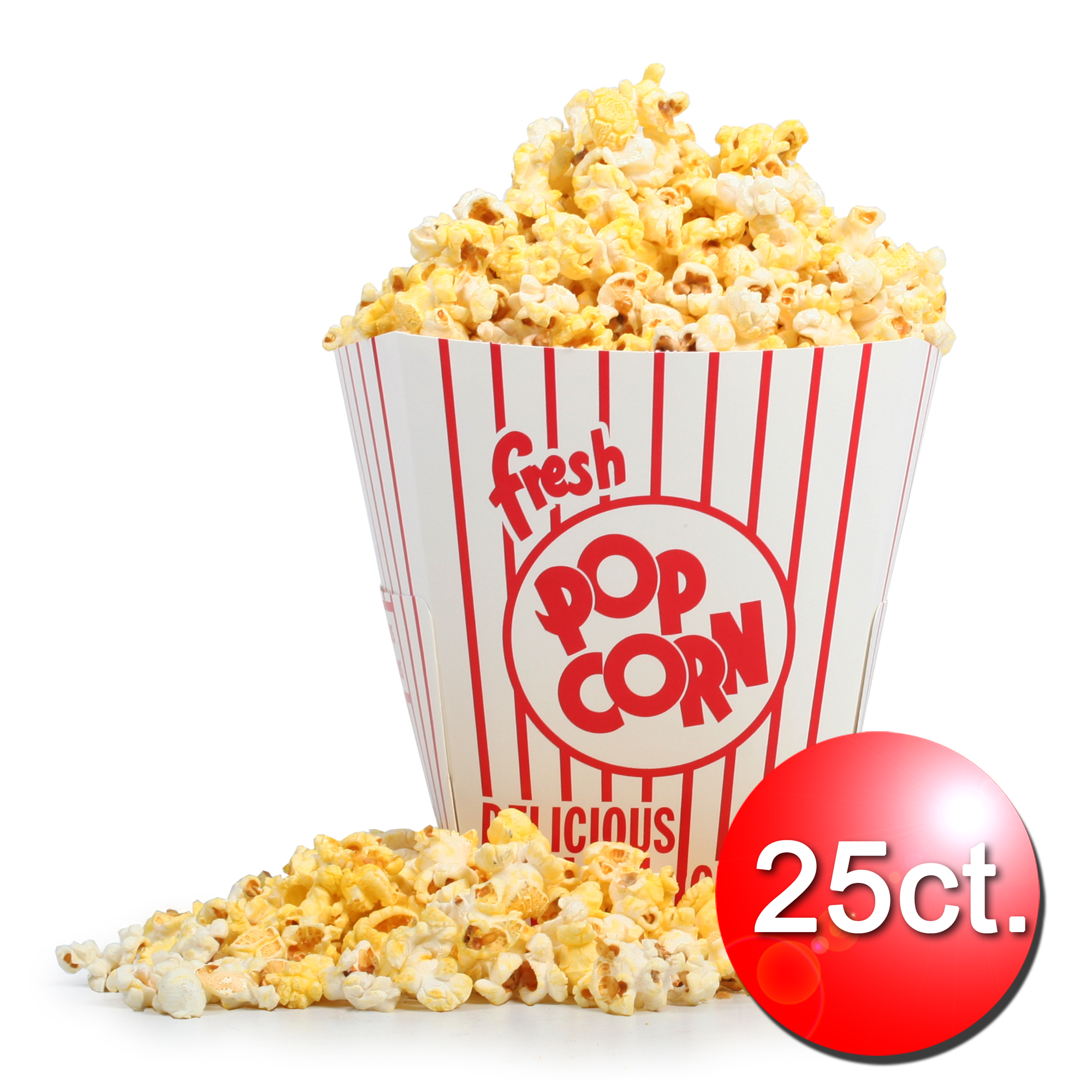 Great Northern Popcorn 85 Ounce Movie Theater  Popcorn Buckets 25 Count Open Top
