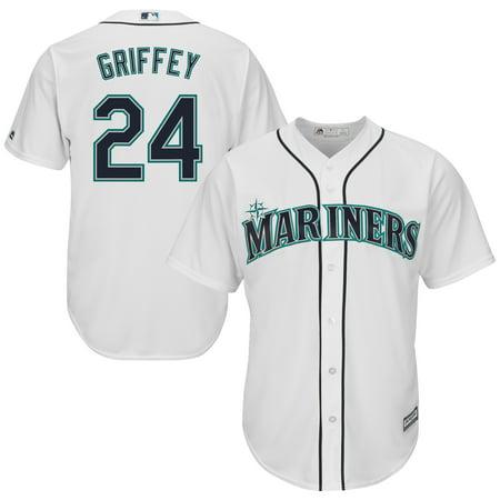 Ken Griffey Jr. Seattle Mariners Majestic Cool Base Player Jersey - White ()
