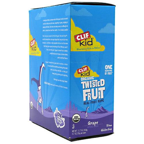 CLIF KID ZFRUIT - Organic Fruit Rope - Grape - (0.7 oz, 18 Count)