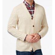 Tasso Elba NEW Natural Beige Mens Size Medium M Cardigan Lambswool Sweater $54