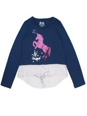 4de0b2b21291 Big Girls Tops   T-Shirts - Walmart.com