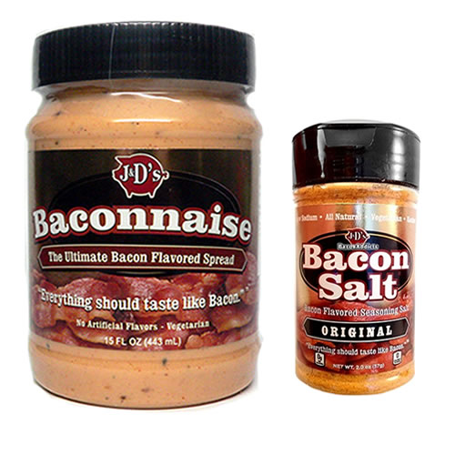 Baconnaise & Bacon Salt Sampler Pack (2pc Gift Set) Bacon Mayonnaise Mayo & Bacon Flavored... by