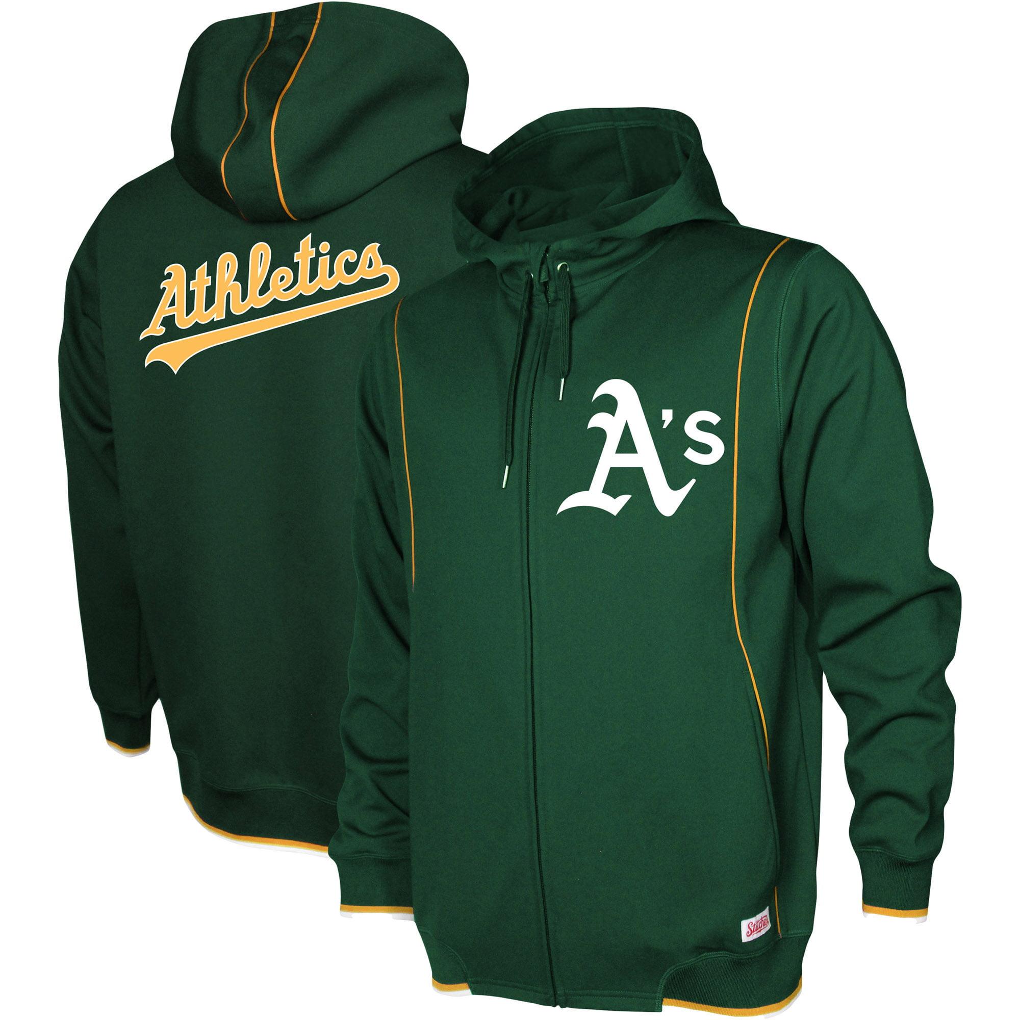 Oakland Athletics Stitches Logo Full-Zip Hoodie - Green