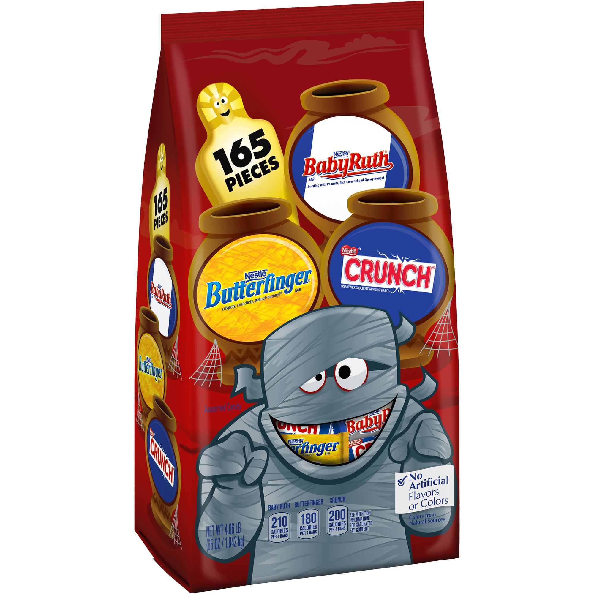 Nestle Jumbo Assorted Halloween Chocolate Minis Candy, 165 count, 65 oz