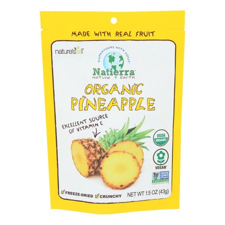 Natierra, Pineapple, Organic, Freeze Dried, 1.5 oz