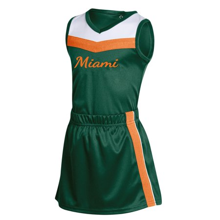 Diy Russell Up Costume (Girls Toddler Russell Athletic Green Miami Hurricanes 3-Piece Cheer)