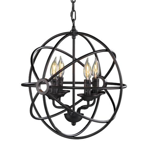 Gracie Oaks Methuli 4 Light Globe Chandelier