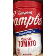 8 PACKS : Campbell's Classic Tomato Soup on the Go 11.1oz. Cup