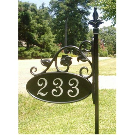 - Crystal Clear Signs 48PA 48 in. Park Ave Address Sign