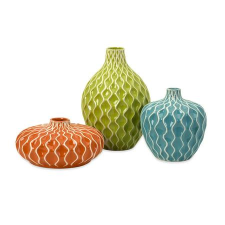 Agatha Ceramic Vases - Set of 3 (Vase Set)