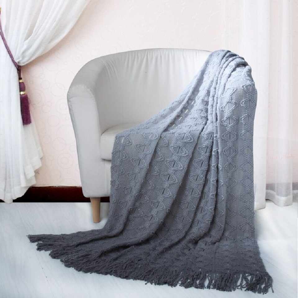 Chic Home Anderson Ombre' Knitted Yarn Dye Throw Blanket