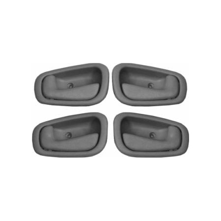 4-Piece SET, Grey DOOR HANDLE Inside/Front/Rear/Right/Left for TOYOTA Corolla Sedan (1998-2002), 1998 1999 2000 2001 2002 98 99 00 01 02, BRAND.., By Fresh Cabin Air from USA