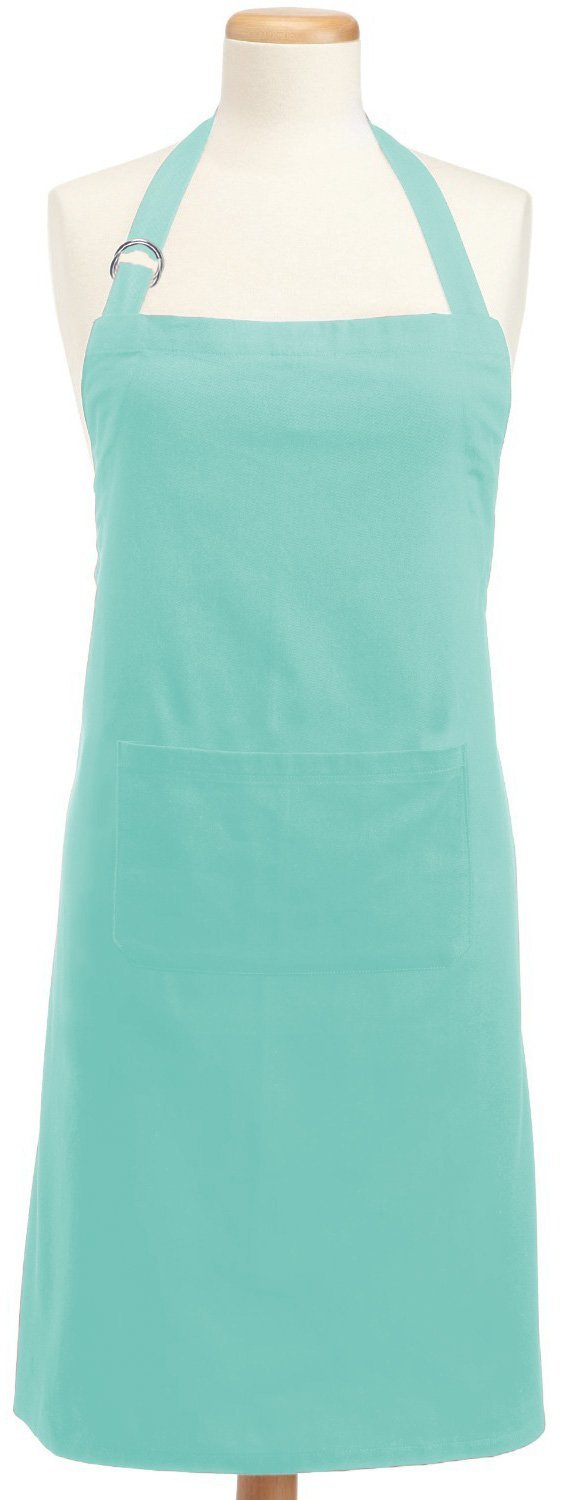 """Kitchen Chef Aprons with 3 Pockets and 40/"""" Long Ties,Adjustable Bib 32/"""" x 28/"""""""