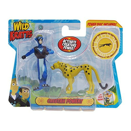 Wild Kratts Toys - 2 Pack Creature Power Action Figure Set - Cheetah Power 2 Candy Toy Figure