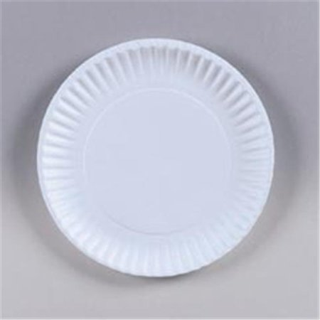 CPC 62000 6 in. Paper Plate Uncoated, Case of 1000, 10 Case of 100