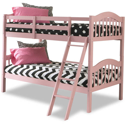 Storkcraft Long Horn Twin Over Twin Solid Hardwood Bunk Bed, Pink