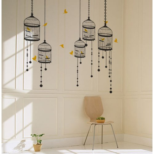 Pop Decors Bird Cage Wall Decal