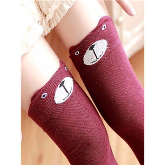 43ae1a7cd8cfb Women Winter Cat Bear Panda Knitted Over Knee Long Boot Thigh-High Warm  Socks RD - Walmart.com