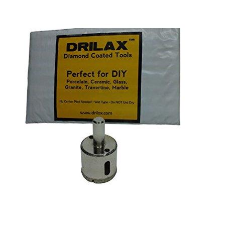 Drilax Diamond Drill Bit Large 1-3/16 inch  Size Hole Saw For Glass, Marble, Granite, Ceramic Porcelain Tiles, Quartz, Fish Tank, Stones, Rocks DIY Drilling