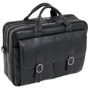 "McKleinUSA Kenwood Leather Double Compartment Case for 15.6"" Laptops - Black"
